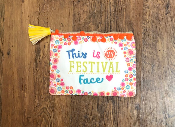 This is my festival face Make Up Bag