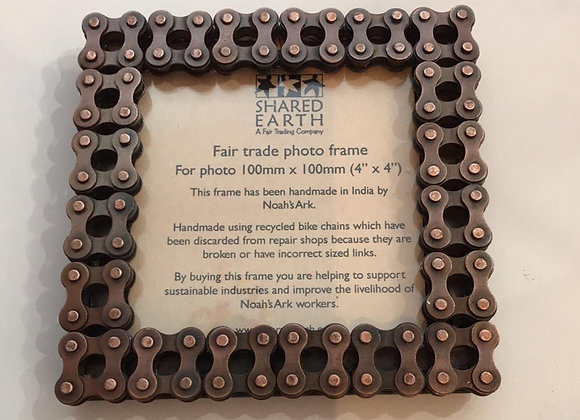 Recycled Bike Chain Photo Frame