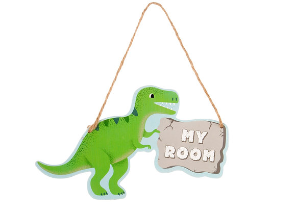T-Rex Hanging Door Plaque