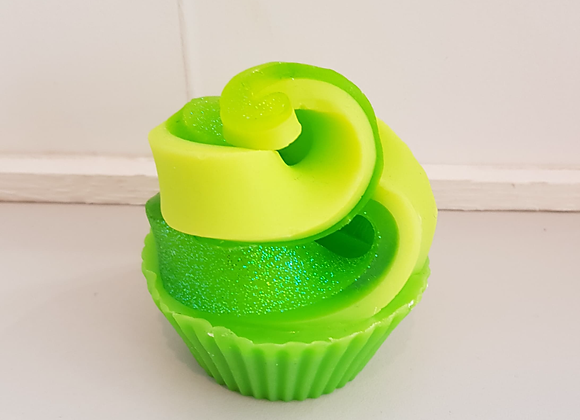 Apple Swirl Soap Cupcake