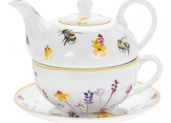 Bee and Wild Flower Garden Teapot Gift Set
