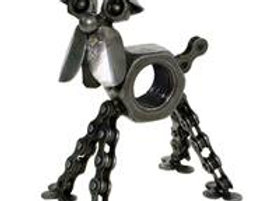 Recycled Metal Dog Ornament he