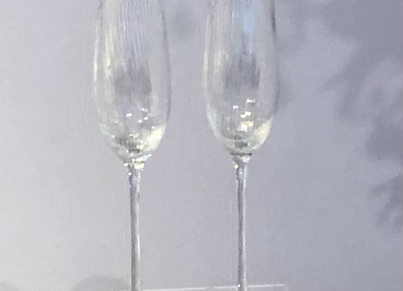 Pair of  Iridescent Champagne Flutes