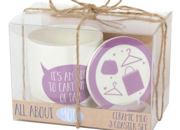 Add To Cart Mug And Coaster Set