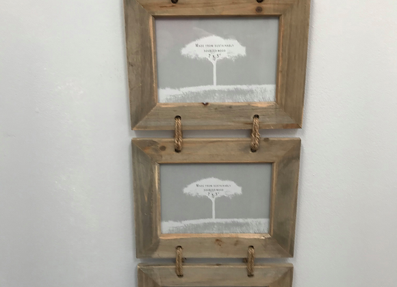 Rustic Triple Hanging Frame