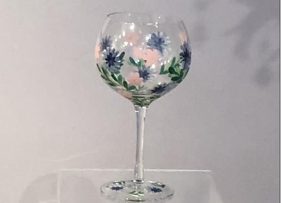 Hand Painted Cornflower Gin Goblet