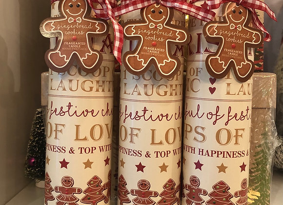 Gingerbread Scented Tube Candle