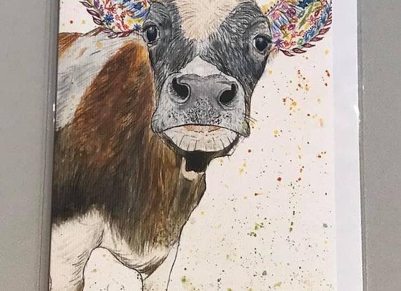 """Clover the Cow"" Eco Card"