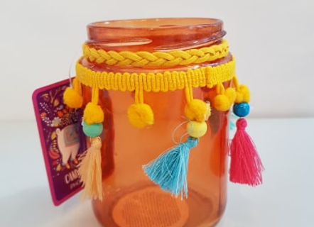 Pom Pom Tea Light Holder