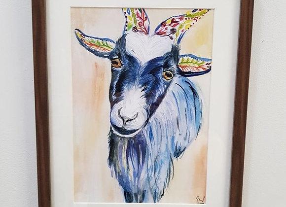 Gary the Goat Framed Original Art Print