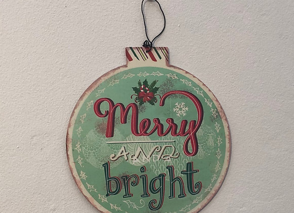 Novelty Bauble Christmas Plaque