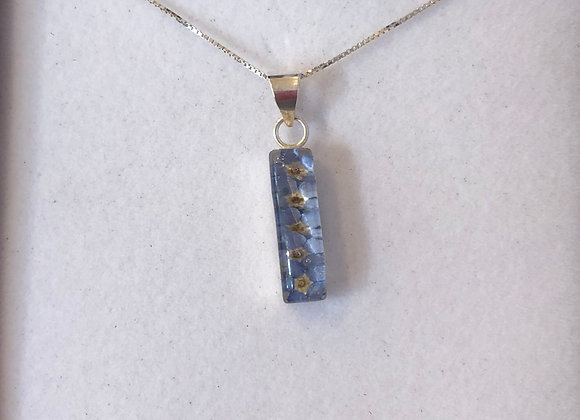 Forget Me Not Silver Pendant Necklace