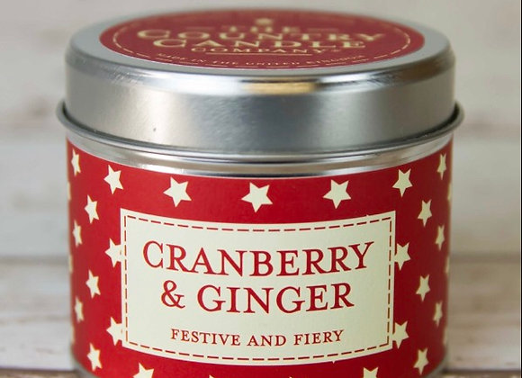 Cranberry and Ginger Scented Candle