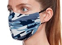 Blue Camouflage Unisex Fashion Face Covering