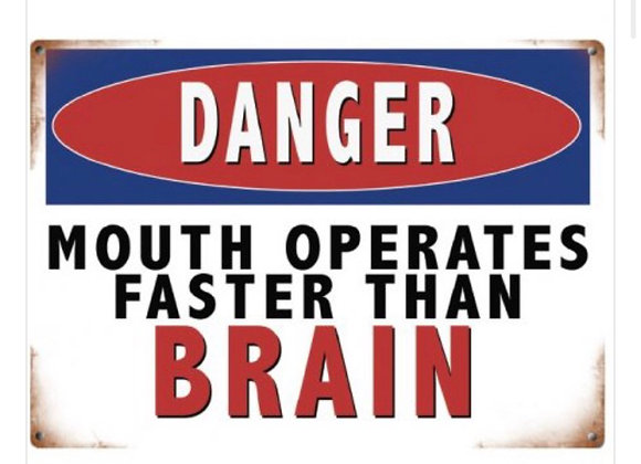 Retro Witty Metal Sign