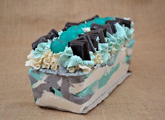 Chocolate Mint Artisan Soap Slice