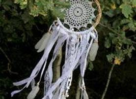 Bamboo Crochet White Dream Catcher