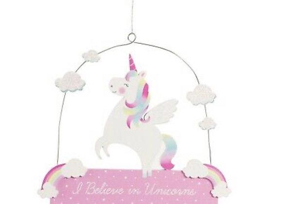 Unicorn Hanging Plaque