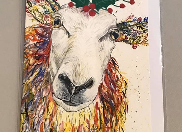 """Christmas Greetings from Baa-bara"" Eco Card"