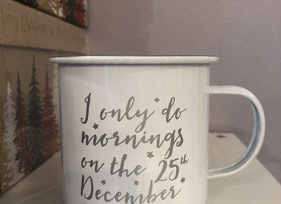 Novelty Christmas Enamel Mug
