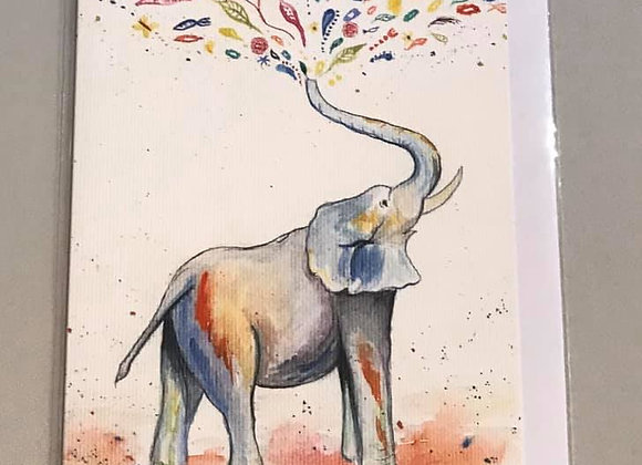 """Eli the Elephant"" Eco Card"