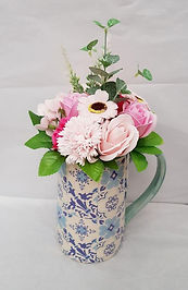 Floral Jug with Soap Flower Bouquet.jpg