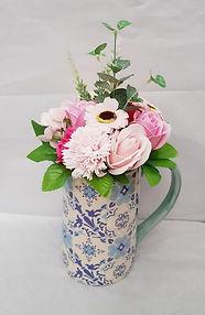 Floral Jug with Soap Flower Bouquet.jpg