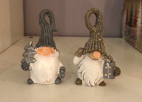 Pair of Quirky Festive Gnome Ornaments