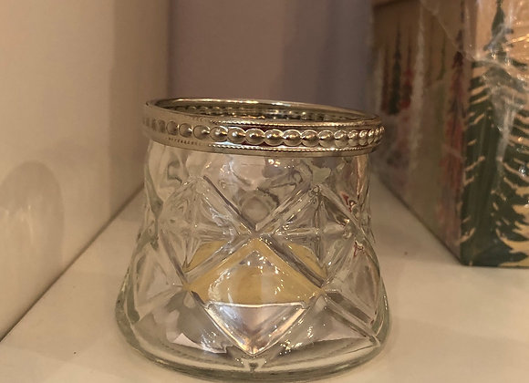 Antique Glass Tea Light Holder