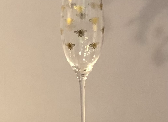 Golden Bee Champagne or Prosecco Flute