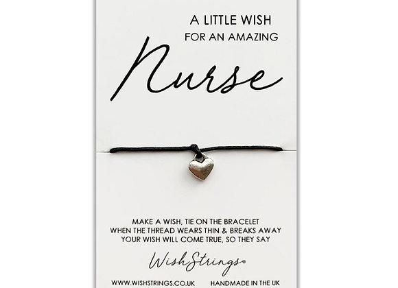 For an Amazing Nurse silver charm bracelet