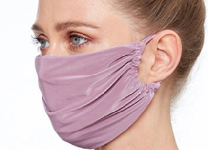 Silky Soft Fashion Face Covering Dusky Pink