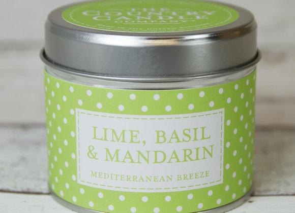 Lime, Basil & Mandarin Candle Tin
