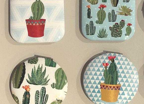 Cactus Compact Handbag Mirror
