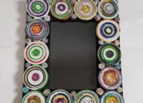 Recycled Paper Circles Photo Frame