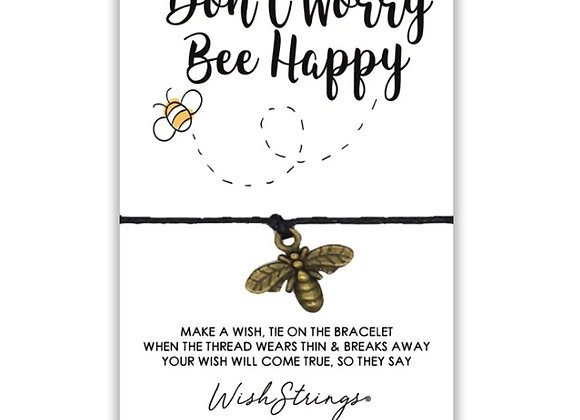 Don't Worry Bee Happy Charm Bracelet