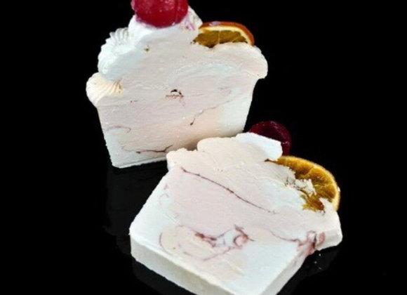 Crimson Cranberry Shea Butter Soap Slice