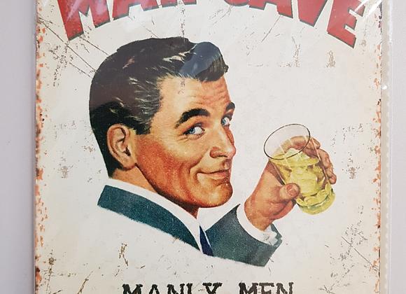 Man Cave Retro Metal Sign