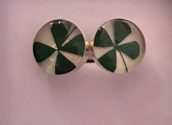 Four Leaf Clover Silver Cufflinks