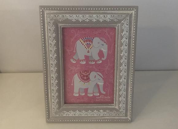 Mandala Elephant Photo Frame