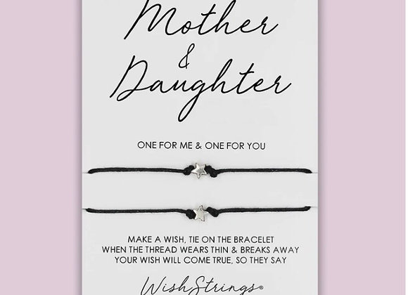 Mother and Daughter double silver charm bracelet