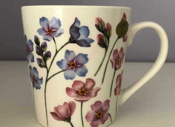 Fine China Forget Me Nots Mug