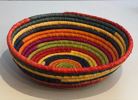 Rainbow Raffia Fruit Basket