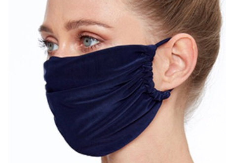 Silky Soft Fashion Face Covering Navy Blue