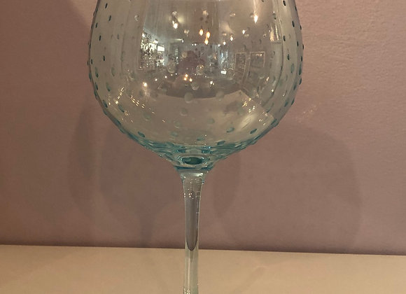 Hand Decorated Coloured Gin Glass