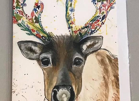 """Rupert the Reindeer"" Eco Card"