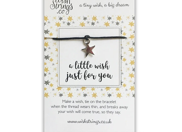 A Little Wish Just For You silver charm bracelet