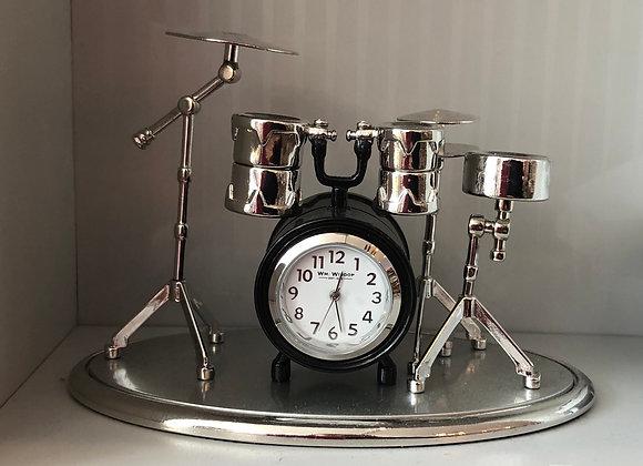Novelty Drum Set Minature Clock