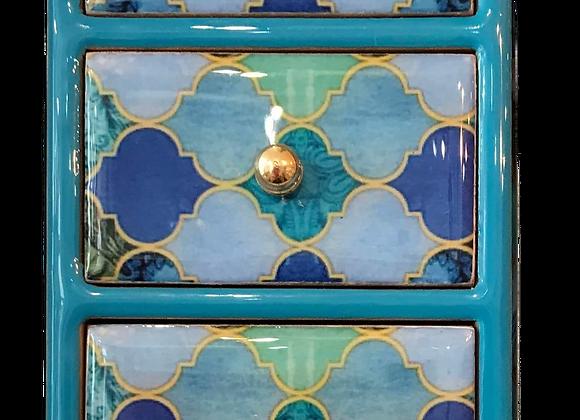 3 Drawer Trinket Jewellery Box