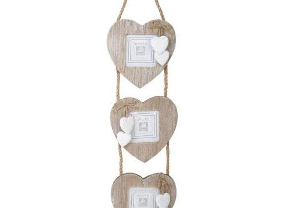 Triple Heart Hanging Frame